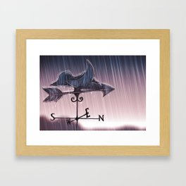 one and lonely Framed Art Print