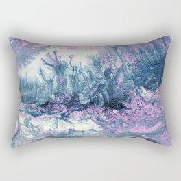 Dark Grey & Pink Abstract IV Rectangular Pillow