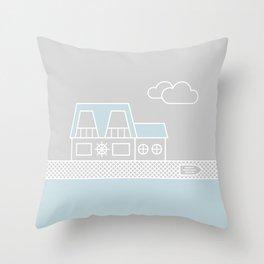 Lagoon House Throw Pillow