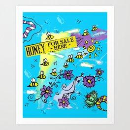 Honey for Sale! Art Print