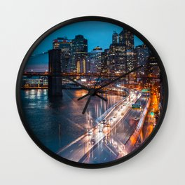 Evening Reflections Wall Clock
