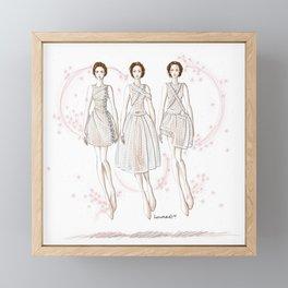 Lace spirits Framed Mini Art Print