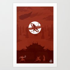 Avatar Book Fire - Version 2 Art Print