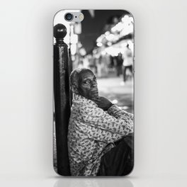 Alone in a Crowded Place iPhone Skin