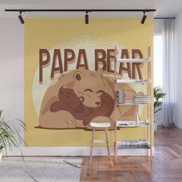 Papa Bear Illustration Wall Mural