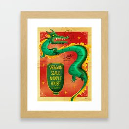 Dragon Scale Noodle House Framed Art Print