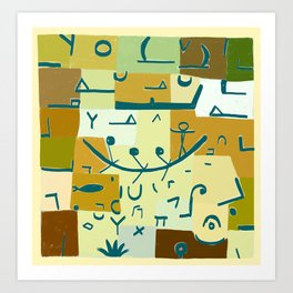 Paul Klee Inspired - The Nile #3 Art Print