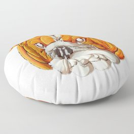 English Bulldog Pumpkin T shirt Halloween Kids Dog Costume Floor Pillow