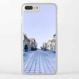 Cold Day in Vieux Montreal Old Town Clear iPhone Case