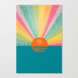Magical sunset. Canvas Print