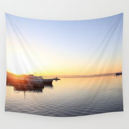 pastel on the horizon Wall Tapestry