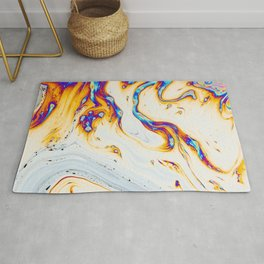 Trippy liquid dye painting Rug