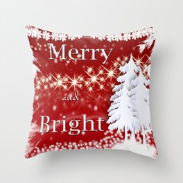 Christmas Merry and Bright Throw Pillow