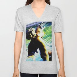 Fountain of the Centaurs at Missouri Capitol Unisex V-Neck