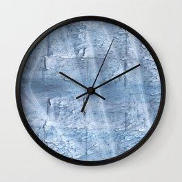 Light steel blue watercolor Wall Clock
