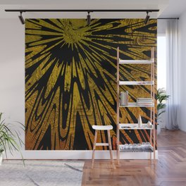 Native Tapestry in Gold Wall Mural