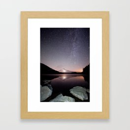 Trillium Lake Framed Art Print