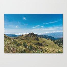 View Hiking up Iztaccihutal Volcano, Mexico City 3 Canvas Print