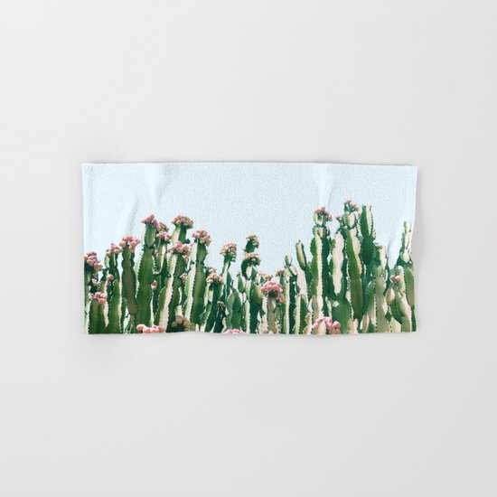 Blush Cactus #society6 #decor #buyart Hand & Bath Towel