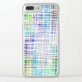 DP034-2 Colorful striped Clear iPhone Case