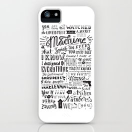 The Machine | Person of Interest iPhone Case