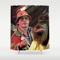 fear and loathing Shower Curtains featuring Johnny Depp @ Fear and Loathing in Las Vegas #2  by Gabriel T Toro