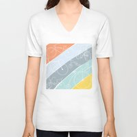 bikes V-neck T-shirts featuring Bikes Bikes Bikes by Badger & Bee