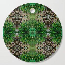 Cocoplum and Cattails op nature pattern Cutting Board