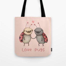 Love Pugs Tote Bag
