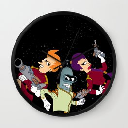 Nimbus Crew: Leela, Fry and Bender Wall Clock