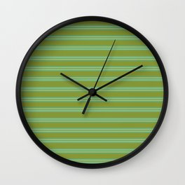 baby poo + mint stripes Wall Clock