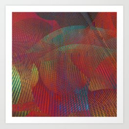 Colorful digital art Art Print