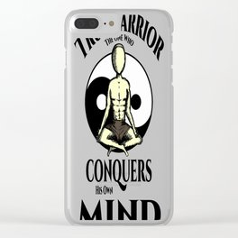 Conquer Your Mind Clear iPhone Case