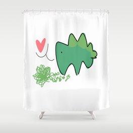 stegosaur-love Shower Curtain