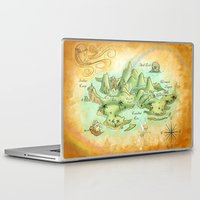 neverland Laptop & iPad Skins featuring Neverland Map by Mercedes Jennings