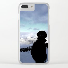 Up here with wonderful views Clear iPhone Case