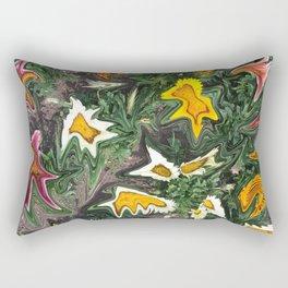 456 - Abstract Flower Garden Rectangular Pillow
