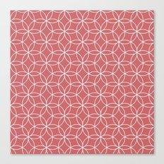 Coral Lotus Canvas Print
