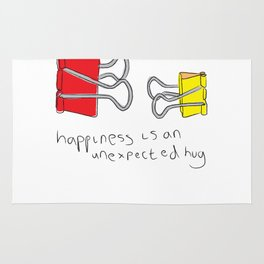 Happiness is an unexpected hug Rug