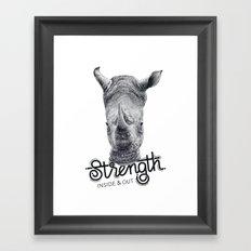 Rhino Strength Framed Art Print