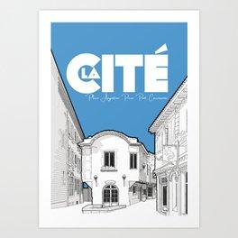 Cité de Carcassonne - Place Auguste Pierre Pont Art Print