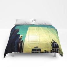 empire state reflection NY Comforters