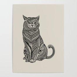 Polynesian British Shorthair cat Poster