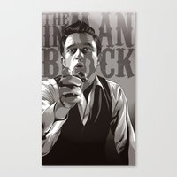 johnny cash Canvas Prints featuring Johnny Cash by Denis O'Sullivan
