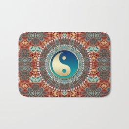 Bohemian Batik Yin Yang Bath Mat