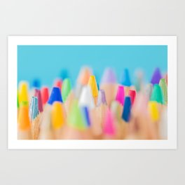 JUST THE TIP (COLORED PENCIL) Art Print