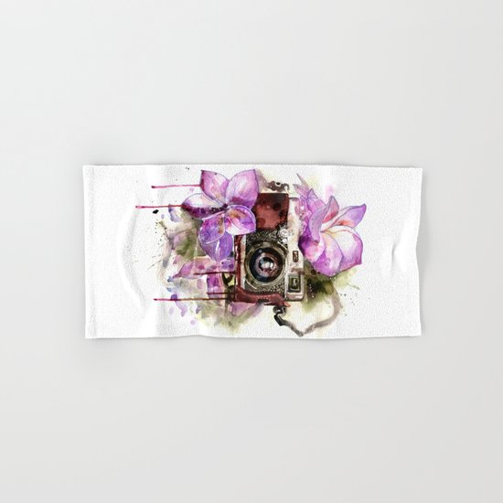 flower camera Hand & Bath Towel