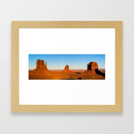 Monument Valley Buttes Panoramic Landscape at Sunset Framed Art Print