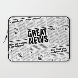 The Good Times Vol. 1, No. 1 / Newspaper with only good news Laptop Sleeve