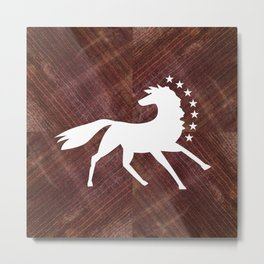 Caballo Blanco - White Horse Metal Print